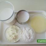 Ingredients for Milk Ice Cream