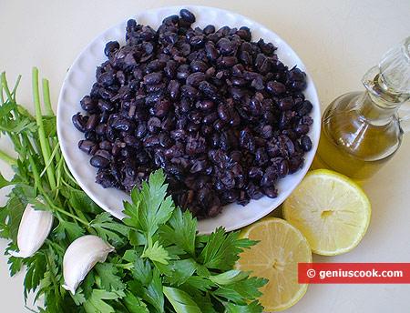 Ingredients for Black Kidney Beans Salad
