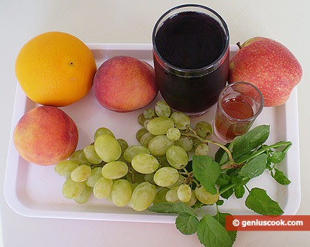Ingredients for Sangria