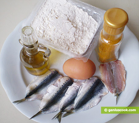 Ingredients for Fried Sardines