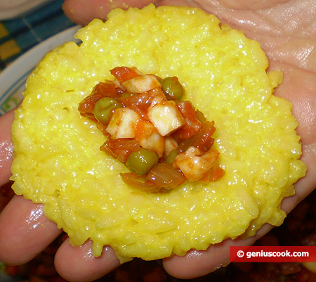 Rice and filling