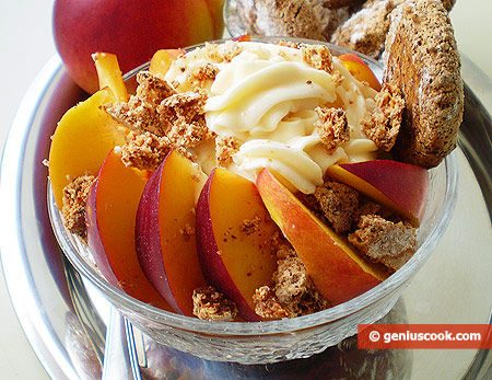 The Nectarine with Mascarpone and Amaretti Dessert