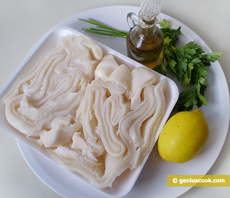 Ingredients for Salad with Tripe