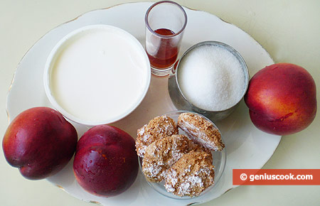 Ingredients for Dessert with Nectarine and Mascarpone