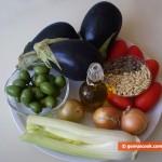 Ingredients for Sicilian Caponata