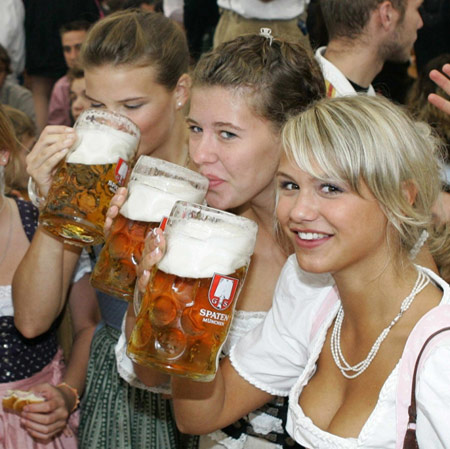 Girls with beer