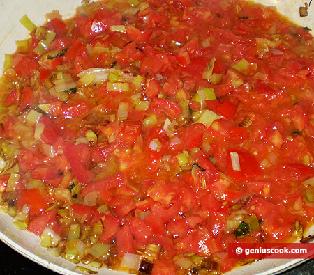Add finely chopped tomatoes