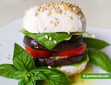 Mozzarella Buns with Eggplant