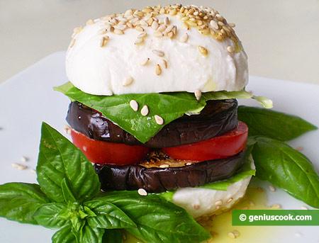 Mozzarella Buns with Eggplant