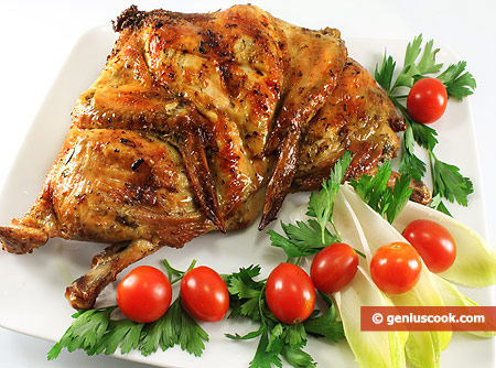 Grilled Chicken with Curry, Oregano and Garlic