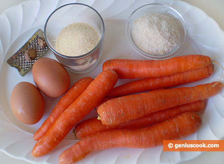 Ingredients for Carrot Patties