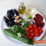 Ingredients for Sauce with Mussels