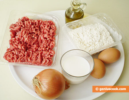 Ingredients for Pancakes with Meat