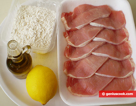 Ingredients for Escalopes with Lemon