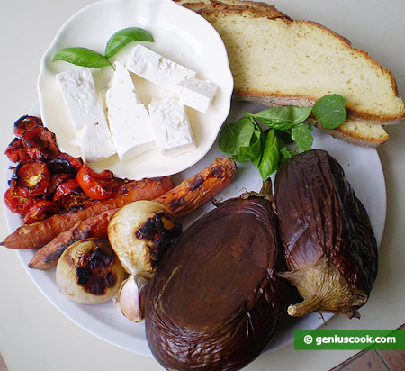 Ingredients for Toasts with Vegetable Paste