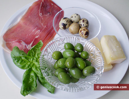 Ingredients for Cheese Baskets with Salad