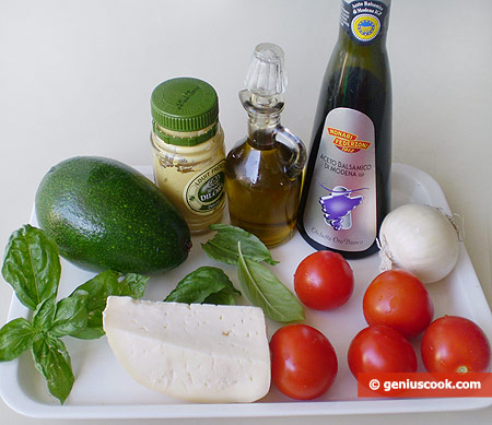 Ingredients for Salad with Avocado