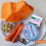 Ingredients for Cream Soup with Pumpkin