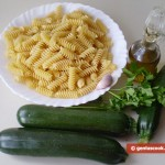 Ingredients for Fusilli with Zucchini