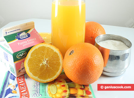 Ingredients for Orange Jelly