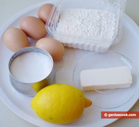 Ingredients for Lemon Wafers