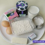 Ingredients for Buns in Cream