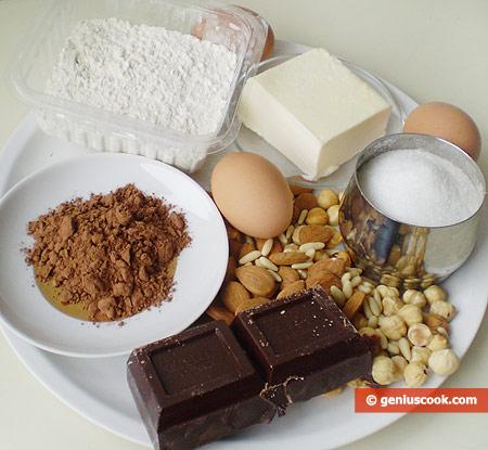 Ingredients for Chocolate Brownies