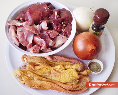 Ingredients for Stuffed Chicken Necks