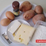 Ingredients for Potato Fritters with Cheese