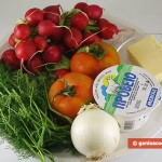 Ingredients for Salad with Radish