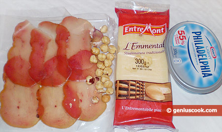 Ingredients for Ham Rolls with Cheese