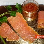 Ingredients for Salmon Rolls with Caviar