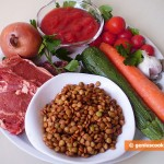 Ingredients for Lentil Soup with Mutton