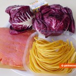 Ingredients for Pasta with Radicchio and Salmon