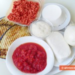 Ingredients for Lasagna with Meat and Eggplant