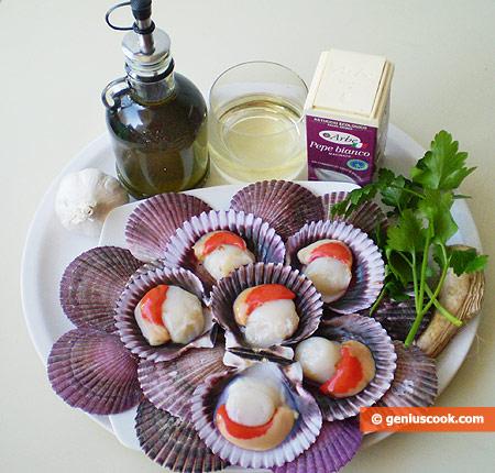 Ingredients for Scallops Sauté