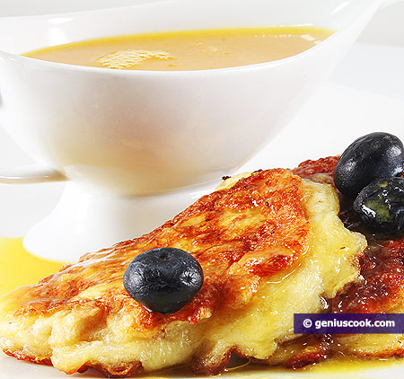 Oat Pancakes with Tangerine Confit and Berries