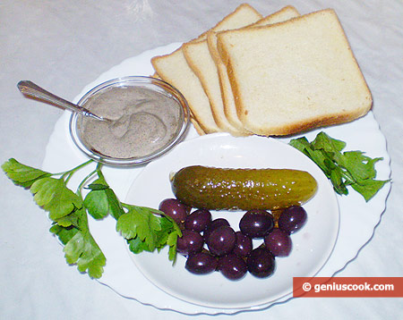 Ingredients for Canapé with Mayonnaise