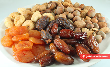 Ingredients for Dry Fruits with Nuts
