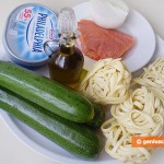Ingredients for Pasta with Sauce from Zucchini