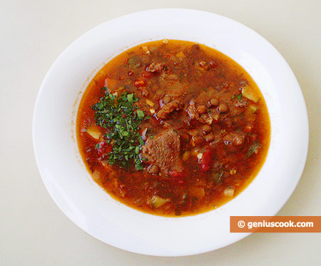 Lentil Soup with Mutton - Mediterranean way