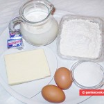 Ingredients for Puff Yeast Paste and Croissants
