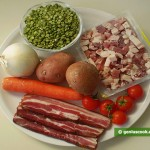 Ingredients for Pea Soup with Smoked Brisket