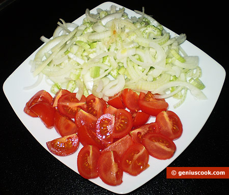 tomatoes, onion and celery