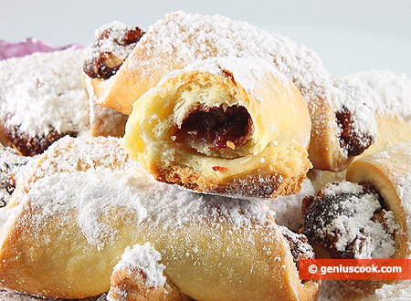 Crescent Rolls with Plum Jam and Nuts