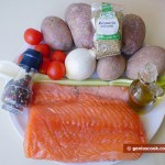 Ingredients for Oven-Baked Salmon with Potatoes