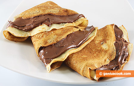 The Recipe for Pancakes with Nutella | Baked Goods | Genius cook ...