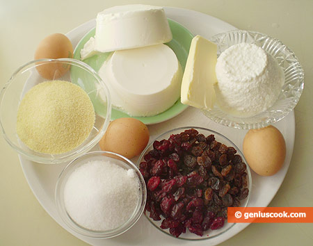 Ingredients for Baked Cheesecake