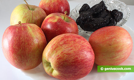 Ingredients for Apples with Dried Prunes