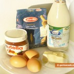 Ingredients for Pancakes with Nutella